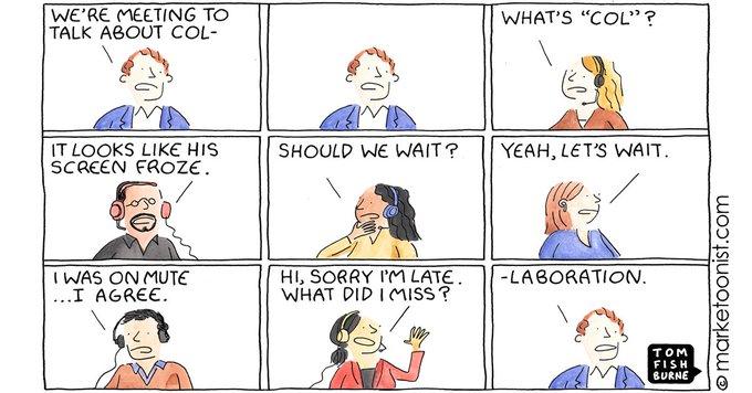 La vidéoconférence - Allégorie